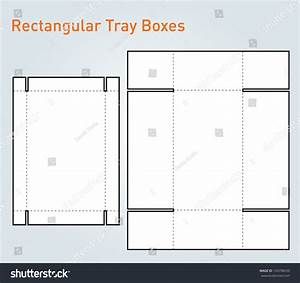 Packaging Tray Box Template Vector Stock Vector 143798539