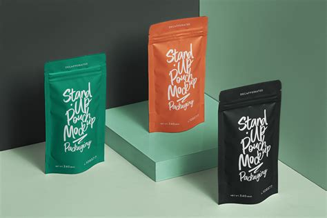 A beautiful set of psd stand up pouch packaging mockup. Packaging Psd Stand Up Pouch Mockup | Psd Mock Up ...