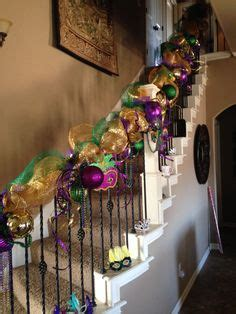 dress  boring stair rails  colorful balloon clusters