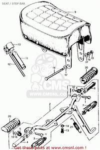 Honda Z50a Mini Trail K4 1973 Usa Seat    Step Bar