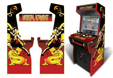 mortal kombat arcade cabinet decals 187 customer submitted custom permanent size mortal