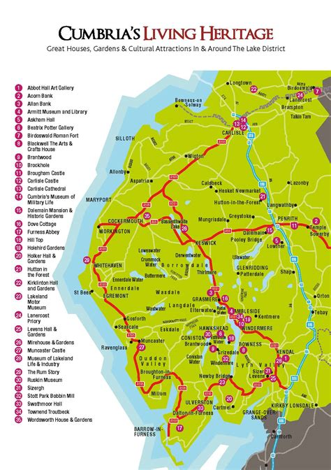 Plan your Visit to Cumbria - Travel Information & Map