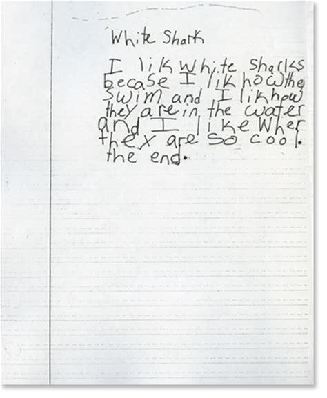 Second Grade Writing Sample 2  Reading Rockets