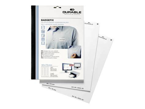 bureau vallee pessac durable badgefix 240 étiquettes pour badges tissu