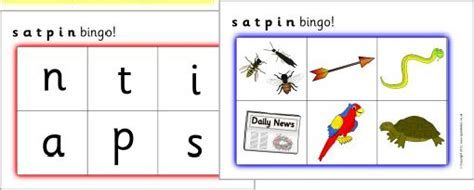 satpin bingo sb466 sparklebox first phonics letters print for martha letter sound