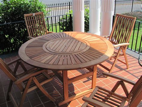 round wooden outdoor table appealing unpolished teak wood round table combined with