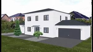 Haus Walmdach Modern : fertighaus stadtvilla garage ~ Lizthompson.info Haus und Dekorationen
