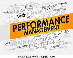 Stock Illustration of Performance Management word cloud ...