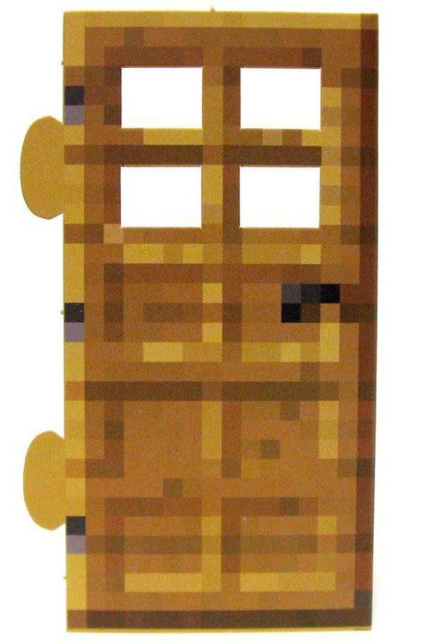 Minecraft Wood Door Papercraft Single Piece Jazwares Toywiz