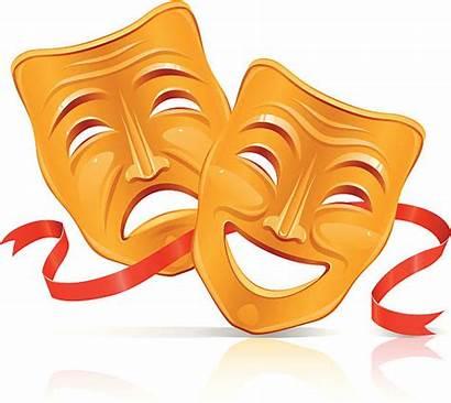 Theater Mask Masks Vector Clip Illustrations Drama