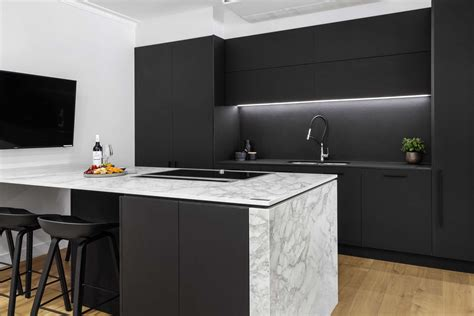 satin black kitchen design willoughby premier kitchens