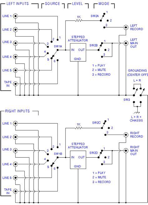 Passive Line Stage Schematic
