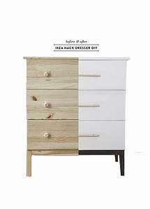 Before After Ikea Tarva Dresser DIY Earnest Home Co