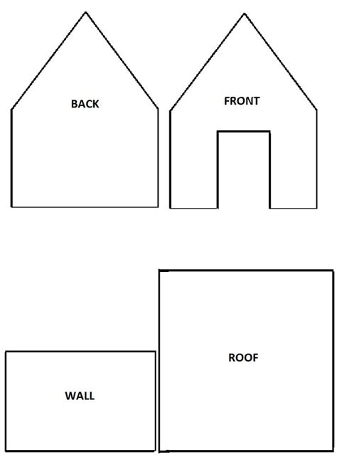 House Template Best 25 Gingerbread House Template Printable Ideas On
