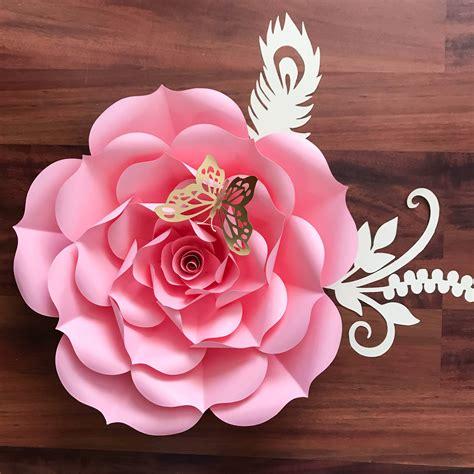 paper flowers paper flowers svg petal  rose template etsy