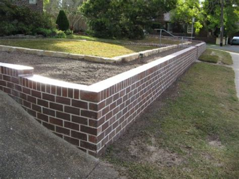 brick retaining wall design wood and brick retaining wall which is better home decoration ideas