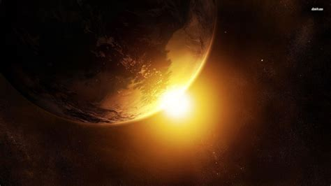 Earth and Sun wallpaper - Fantasy wallpapers - #6834