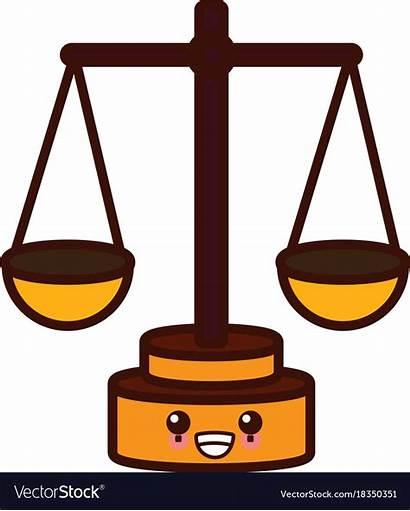 Balance Cartoon Justice Symbol Kawaii