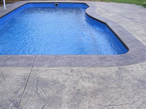 stamped  brushedbroomed concrete  swimming pools