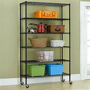 6, Tier, Wire, Shelving, Unit, Heavy, Duty, Height, Adjustable, Nsf, Certification, Utility