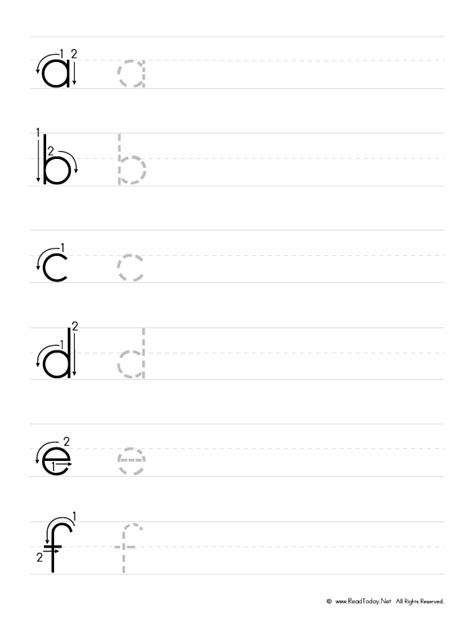 print  practice  english alphabet writing