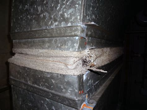 vintage asbestos textile hvac duct vibration dampe