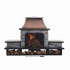 Sunjoy Seneca 51 In Wood Burning Outdoor Fireplacel