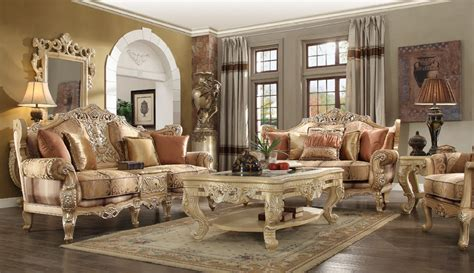 Victorian interiors feature beautiful colors, lots of ornate details, and skilled fakery to make the home a welcoming and beautiful. HD 1633 Homey Design Upholstery Living Room Set Victorian ...