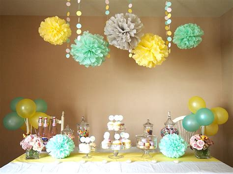 yellow mint grey baby shower baby shower yellow