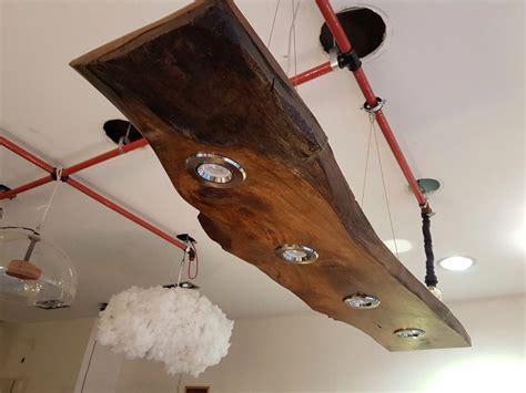 walnut slab  edge ceiling led light walnut liveedge