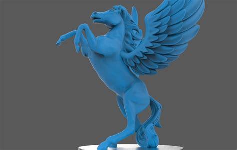 statue  pegasus  model  printable stl cgtradercom