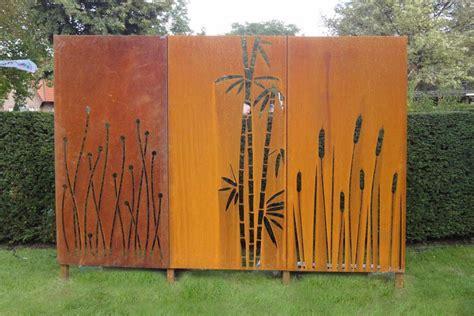 Sichtschutz Garten Aus Cortenstahl by Cortenstahl Sichtschutz F 252 R Garten Haus Design Ideen