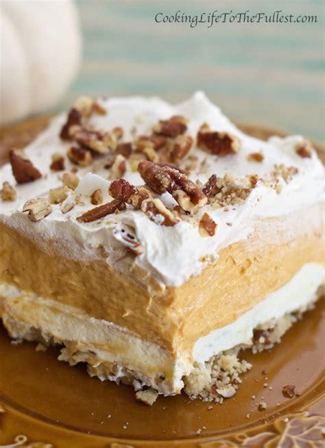 pumpkin dessert layered pumpkin lasagna dessert cooking life to the fullest