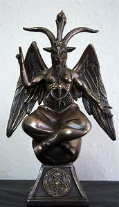 Baphomet - The Sabbatic Goat w/ Sigil Bronze Statue 9