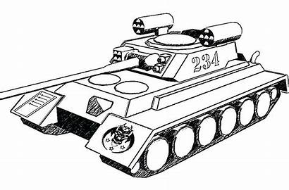 Tank Coloring Army Tanks Pages Military Colouring