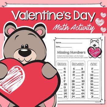 valentines day missing numbers  images math