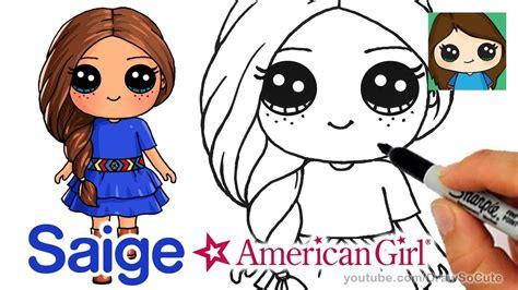 draw saige easy american girl doll kids youtube