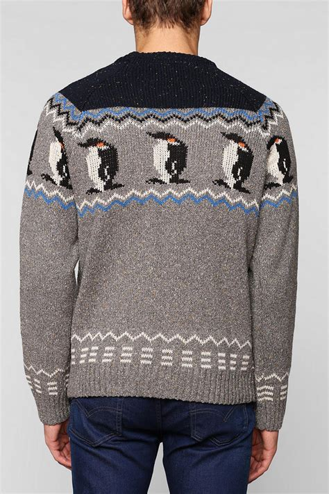 penguin sweater lyst outfitters character penguin sweater in
