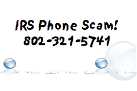 automated phone call from irs irs phone scam 802 321 5741 albany vt