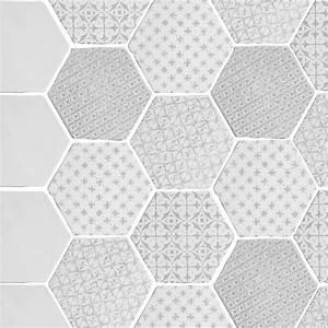 Carrelage Hexagonal Blanc : carrelage hexagonal mat gris 15 x 15 cm he0811006 ~ Premium-room.com Idées de Décoration