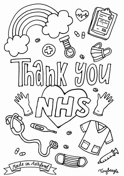 Nhs Colouring Thank Coloring Sheets Pages Sheet