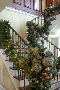 17 Best images about Christmas Staircase Decor on
