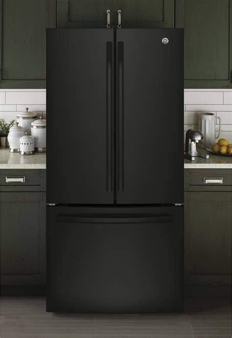 gwejglbb ge   cu ft counter depth french door refrigerator black