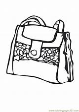 Coloring Purse Pages Handbag Shopping Template Coloringpages101 Getdrawings Drawing sketch template