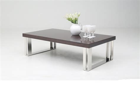 contemporary stainless steel table ls contemporary golden teak coffee table on stainless steel