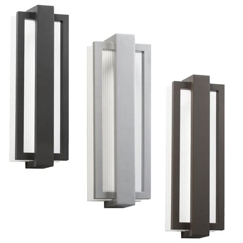 kichler 49434 sedo contemporary 6 quot wide led outdoor wall