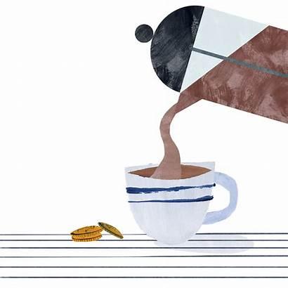 Coffee Maker Tea Illustrator Animation Cafe Penelopedullaghan