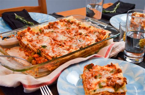 Toaster Oven Lasagna - high protein vegetarian lazy lasagne sophster toaster