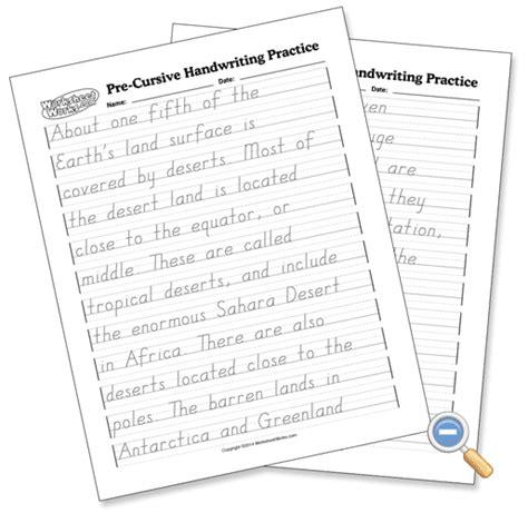 pre cursive handwriting practice worksheetworks