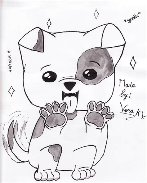 cute dog drawing step  step  getdrawingscom